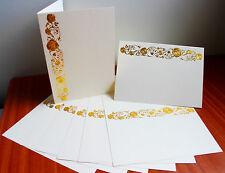 Kanban 10 A6 DE LUXE feuille d'or rose ivoire mariage / fête cartes vierges