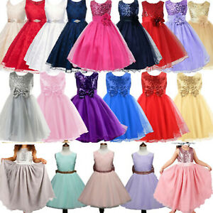 Flower Girls Kid Pageant Princess Dress Fashion Wedding Bridesmaid Party Prom AU