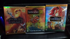 Lion King DVD Trilogy Bundle Lion king 1, 1/2, Simba's pride Platinum New