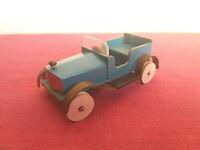 Antico Modellino auto d'epoca fatto a mano in legno e metallo