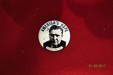 """Wendell Willkie Americas Hope Campaigin 1 1/8"""" 1968 Kleenex Reproduction Button"""