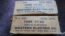(2) Mint Matched 110% Western Electric VT-52 BP Special 45 Triode  Audio Tubes