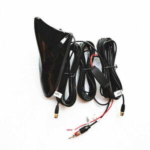 Car Aerials Radio Roof Mount AM/FM Antenna Signal Amplifier WIFI GPS Navi Parts