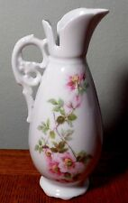 """Limoges Giraud France Cruet with Handle 7"""" Hand Painted Pitcher"""