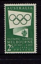 1955  2Shilling   OLYMPIC GAMES GREEN PUBLICITY STAMP MINT UNHINGED