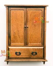 1/12 Dollhouse Miniature Wood Cabinet Kitchen Dinning Room Bedroom Wardrobe