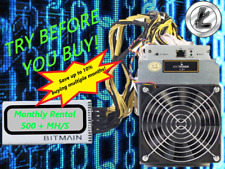 Ant Miner L3+ Rental. 550Mh  Guaranteed 1 Month Mining Contract Lease Scrypt LTC