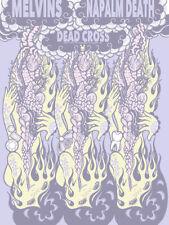 MELVINS / NAPALM DEATH / DEAD CROSS - LA 2016 silkscreened poster Junko Mizuno