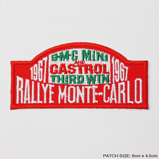 MONTE CARLO RALLY - 1967 Mini Cooper Embroidered Patch