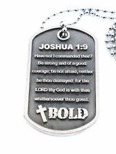 Be Bold. Joshua 1:9   Dog Tag