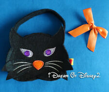 Build-A-Bear BLACK CAT Purple Gem Eyes PURSE & BOW Teddy HALLOWEEN Accessory Bag