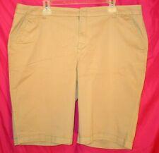 "JCPenney~Brown Bermuda Shorts~Mid Rise~11 1/2"" ins~Cotton Blend~Women Plus 18W"