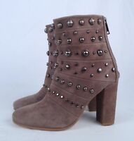 NEW!! Badgley Mischka Studded Boot- Grey Suede- Size 6.5 M (B6)