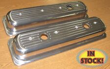 SPC Center Bolt Chevy Small Block Polished Aluminum Valve Covers 8460