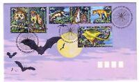 "1997 FDC Australia. Creatures of the Night. PictPMK. ""DARK CORNER"""