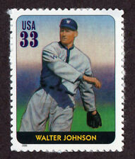 UNITED STATES, SCOTT # 3408-I, SINGLE STAMP OF WALTER JOHNSON, BASEBALL LEGEND