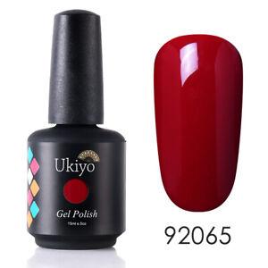 Ukiyo 10/15ml Nail Art Gel Nail Polish UV/LED Manicure Varnish Top Base Coat Set