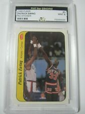 1986 Fleer #6 PATRICK EWING New York Knicks Rookie Basketball Sticker RC Mint 9