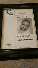 Timothy Carr A Stop Along The Way Rare Original Promo Poster Ad Framed!