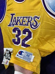 Vtg Champion Los Angeles Lakers Sz 48 MAGIC JOHNSON #32 NBA Jersey kobe