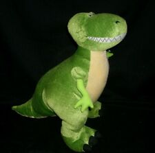 "10"" DISNEY STORE T REX GREEN DINOSAUR STUFFED ANIMAL PLUSH TOY STORY PIXAR DOLL"