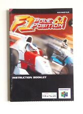 Notice F1 Pole Position 64 Nintendo 64 N64 Eur (2)