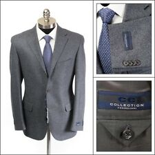 $995 NWT CORNELIANI CC Gray Wool Cashmere All Season Flannel Coat Jacket 50 40 R
