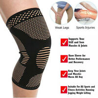 Copper Compression Knee Support Brace Sport Joint Pain Arthritis Relief Sleeve C