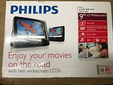 "Philips PD9012P-37 9"" LCD Screen Car DVD Player Black"