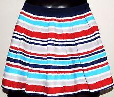 Forever 21 Skirt - Pleated - Fully Lined - Side Zipper - Fun Stripe Design - Sm