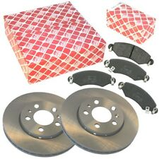 2 Febi Brake Discs + Brake Pads Front Vauxhall Astra Zafira