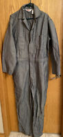 Vintage Walls Master Made Blue White Striped Coveralls Mens Large USA NWOT