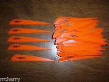 """100 4"""" Flo Orange VaneTec V-Max Vanes! archery plastic arrow fletching vane tec"""