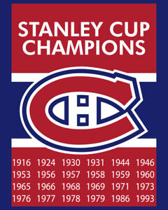 Montreal Canadiens Stanley Cup Champions Wall Art Poster - 8x10 Color Photo