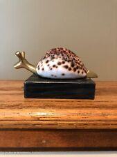 Cowrie Shell Art Snail Paperweight