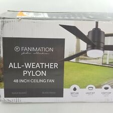 "Fanimation Studio Collection All Weather Pylon 48"" Ceiling Fan Black"