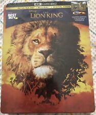 Disney's The Lion King 2019 Steelbook (4K Ultra HD, Blu Ray, Digital) Sealed!