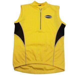 Giordana 1/2 Zip Cycling Jersey Made Italy Mens Medium Yellow