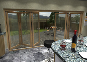 External Bifold Doors - Unfinished 54mm Various Sizes Select Engineered Timber