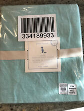 Pottery Barn Kids Linen Toddler Duvet Cover Aqua Blue NEW