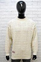 Vans Maglione Uomo Pullover Lana Taglia L Sweater Casual Cardigan Bianco Man