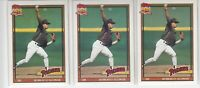 1991 Topps Roberto Alomar #315 Error Variation Lot Glow Back 3 Different HOF