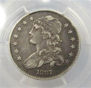 1837 Capped Bust Quarter Major Die Cracks PCGS XF 40 AC665