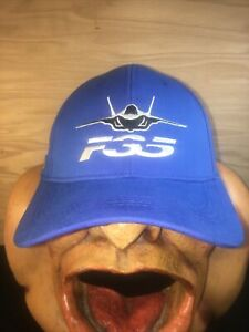 F35 ADJUSTABLE HAT - BLUE / WHITE - WARBIRD STRAPBACK HAT PRODUCTION ENGINEERING