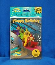 Teletubbies Happy Birthday Cards With Envelopes for Boy or Girl - 5 Cards