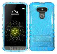 KoolKase Hybrid Rugged Impact Silicone Cover Case for LG G5 - Clear Glitter