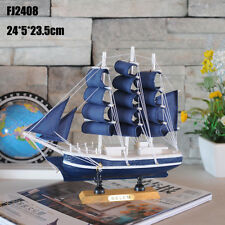 Wooden Sailing Ship Handmade Carved Model Boat Nautical Decoration home decor