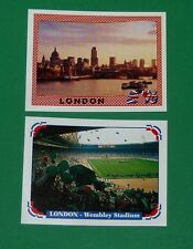 PANINI FOOTBALL UEFA EURO 96 EUROPE 1996 N°19 & 20 LONDON WEMBLEY