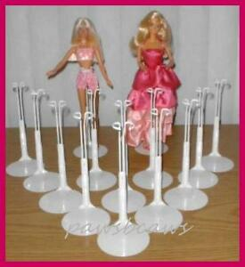 12 White Kaiser #2201 BARBIE Doll Stands fits MONSTER HIGH too