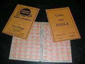 3 alte Sammelbücher für EDEKA Rabattmarken Saarland ca. 70er J. vollständig